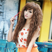 Keepyonger New Arrival 70cm Sexy Hot Selling Naturel Synthetic Kinky Curly Long Women Hair Wigs Heat Resistent Hair Cosplay Wig+Cap