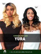 LH YURA (#612) - THE WIG 100% Human Hair Blend Invisible Part Lace Front Wig