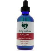 Loving Naturals 100% Organic Argan + Pomegranate Oil (120ml) for Face, Hair, Skin and Nails