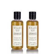 "2 x KHADI - Ayurvedic Vitalising Hair Oil - 210ml.Pack of 2 - ""Shipping by FedEx"""