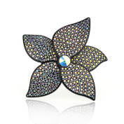 DoubleAccent Hair Jewellery Simulated Crystal Flower Hair Barrettes,