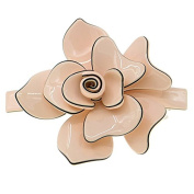 Crystalmood Cellulose Acetate Blooming Rose Hair Barrette Peach