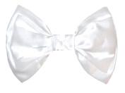 Marialia Satin Double Layer Bow White