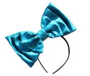 Marialia Satin Bow Bright Blue