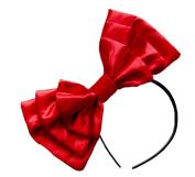 Marialia Satin Bow Bright Red