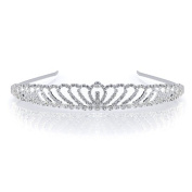 DoubleAccent Hair Jewellery Beautiful Rhinestone Princess Tiara Clear Colour