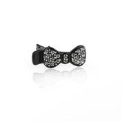 DoubleAccent Hair Jewellery Simulated Crystal Bow Mini Hair Clip,