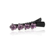 DoubleAccent Hair Jewellery Simulated Crystal Flowers Hair Clip Barrettes,