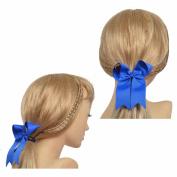Lclhb® 12pcs 15cm Women Girl Hair Bows Hair Clips Elastic Grosgrain Ribbon 12 Colour Fc04 (10cm 12pcs