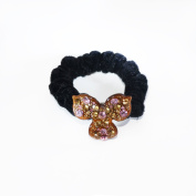 Twinkle® Hair Accessories - Crystal Scrunchies- Three Leaves X 1