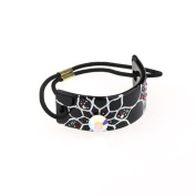DoubleAccent Hair Jewellery Simulated Crystal Flower Hair Ponytail Holder,
