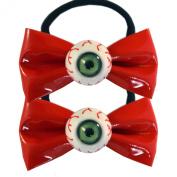 Kawaii Eyeball Hair Bow Bands Red By Kreepsville 666