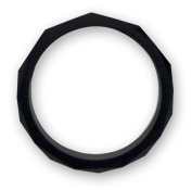 Stimtastic Chewable Silicone Faceted Bracelet Nontoxic BPA, Lead and Phthalate Free, Black