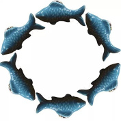 CSKB BLUE 6 PCS 60mm Koi Fish-shaped Ceramic Door Knob For Cupboard/Cabinet/Bathroom/Drawer Great Furniture Ornaments For Nursery/Baby Room 6 Colours Available