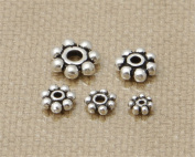 Luoyi Tibetan Style Spacer Beads, Flower, Antique Silver (G001K)