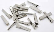 50 Pc Silver Tone Barrette Blank Hair Clips - DIY Crafts, Add Bows & Beads, Jewellery Making
