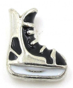 "Best Wing Jewellery ""Ice Skates / Hockey Skates"" Floating Charm for Glass Lockets"
