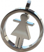 RaanPahMuang Spinning Lady Female Stainless Steel Pendant Charm