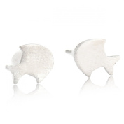 Little Fish Stud Earrings Stainless Steel Earrings Free of Lead Silver Plating Fashion & Lovely & Stainless & Delicate for Girls & Women Jewellery Findings & Gifts & Personal Decoration