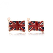 British Flag M Word Temperament Earrings Korean Version of the Stylish Simplicity Stainless Steel Earrings Lead Free Alloy European and American Style for Girls & Women Jewellery Findings & Gifts