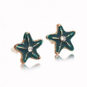 Blue Starfish Stainless Stud Earrings Stainless Steel Earrings Free of Lead Hypoallergenic Fashion & Special & Lovely & Delicate for Girls & Women Jewellery Findings & Gifts & Personal Decoration