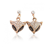 Fox Stainless Steel Stud Earrings Lead Free Hypoallergenic Alloy & crystal Plating Technique Retro Seductive Personality Fashion & Lovely & Delicate for Girls & Women Jewellery Findings & Gifts