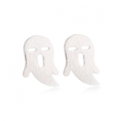 Adorkable Ghost Stud Earrings Stainless Steel Earrings Halloween Silver Plating Fashion & Lovely & Stainless & Delicate for Girls & Women Jewellery Findings & Gifts & Personal Decoration