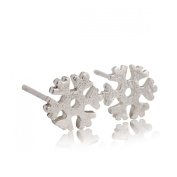 Christmas Snowflake Stud Earrings Stainless Steel Earrings Free of Lead Silver Plating Fashion & Lovely & Stainless & Delicate for Girls & Women Jewellery Findings & Gifts & Personal Decoration