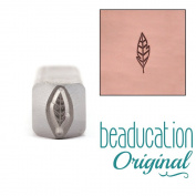 Small Leaf / Feather Design Stamp 7mm - Beaducation Original