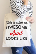 This Is What An Awesome Aunt Looks Like Tote Bag in Natural Colour