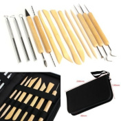Hanpearl 14pcs/set Clay Sculpting Wax Carving Pottery Tools Polymer Ceramic Modelling Kit