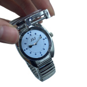 Stainless steel tactile watch for blind people--battery operated