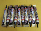 10 Brown Quick Dry Temporary Tattoo Body Art Cones, Ready to Use, Kit for Beginners, Instant Super Fast Colour and Stays for 3-4 Days.