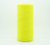 NEON YELLOW 1mm Waxed Polyester Twisted Cord Macrame Bracelet Thread Artisan String