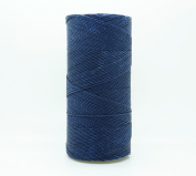 NAVY BLUE 1mm Waxed Polyester Twisted Cord Macrame Bracelet Thread Artisan String
