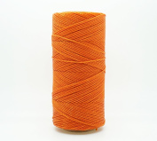 ORANGE 1mm Waxed Polyester Twisted Cord Macrame Bracelet Thread Artisan String