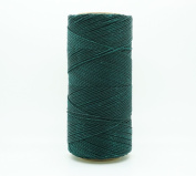 DARK GREEN 1mm Waxed Polyester Twisted Cord Macrame Bracelet Thread Artisan String
