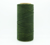 OLIVE GREEN 1mm Waxed Polyester Twisted Cord Macrame Bracelet Thread Artisan String