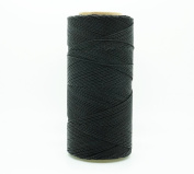 BLACK 1mm Waxed Polyester Twisted Cord Macrame Bracelet Thread Artisan String