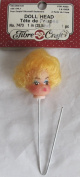 Fibre Craft 1 PC. Vinyl DOLL HEAD 2.5cm w BLONDE Combable Hair on WIRE