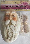 PREMIER Craft 1 SET of PORCELAIN SANTA 'DOLL' HEAD 7.6cm - 1.3cm and PAIR of HANDS Each 5.1cm - 1.9cm Long w INSTRUCTION SHEET