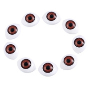 Deep Brown Doll DIY Making 60PCs Plastic Doll Eyes Safety Eyes For Animal Bear Toy Puppet Doll Accessories