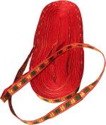 RaanPahMuang Brand Thin Trimming Ribbon - Orange Stars - 1 cm x 11 yard