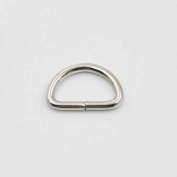 """100 Pcs 3/8"""" 10mm Dee Ring Non Welded for Webbing D Buckles Bag Nickle"""