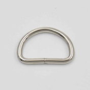 """100 PCS 0.75"""" 19mm Dee Ring Non Welded for Webbing D Buckle Bag Nickle"""