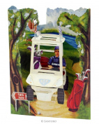 Santoro 3D Swing Greeting Card, Golf Buggy