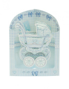 Santoro 3D Swing Greeting Card, Baby Boy Crib