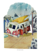 Santoro 3D Swing Greeting Card, Campervan