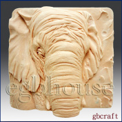 Elephant Close up -Detail of High Relief Sculpture - Soap/plaster/polymer/clay/cold Porcelain Silicone Mould