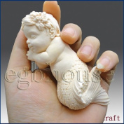 Lifelike Baby Mermaid - 3d Silicone Soap/polymer/clay/cold Porcelain Mould